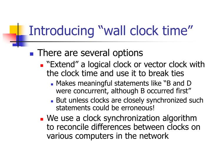 "Introducing ""wall clock time"""
