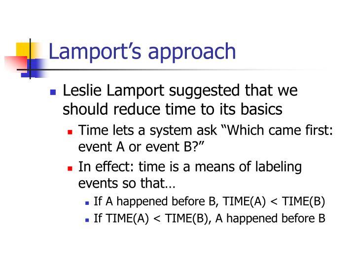 Lamport's approach