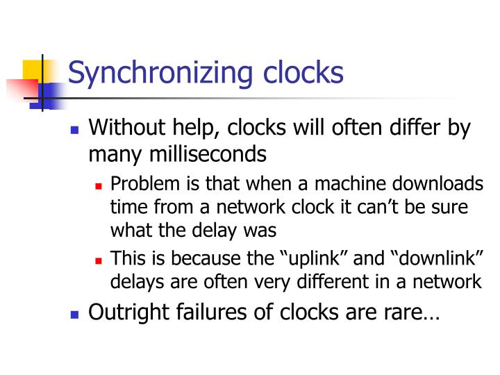 Synchronizing clocks