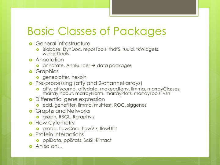 Basic Classes of Packages