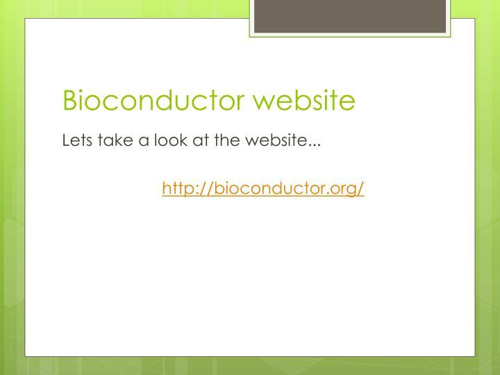 Bioconductor website