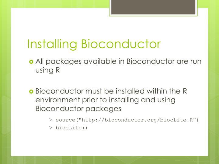 Installing Bioconductor