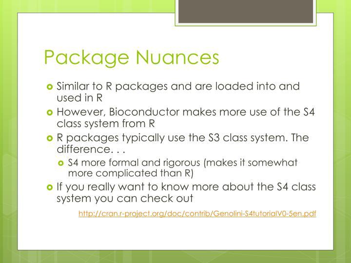 Package Nuances