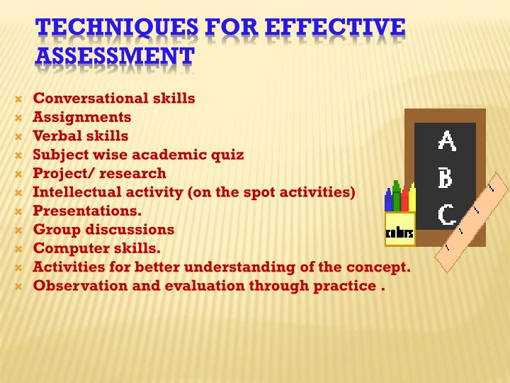 Techniques For Effective Assessment