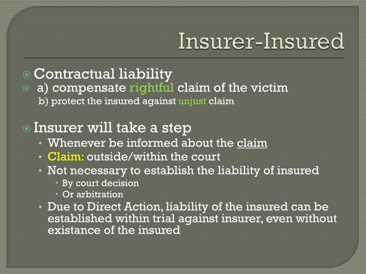 Insurer-Insured