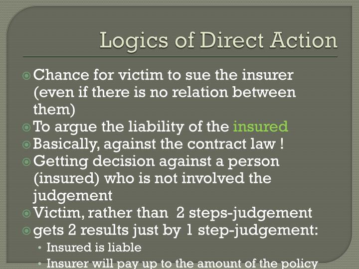 Logics of Direct Action