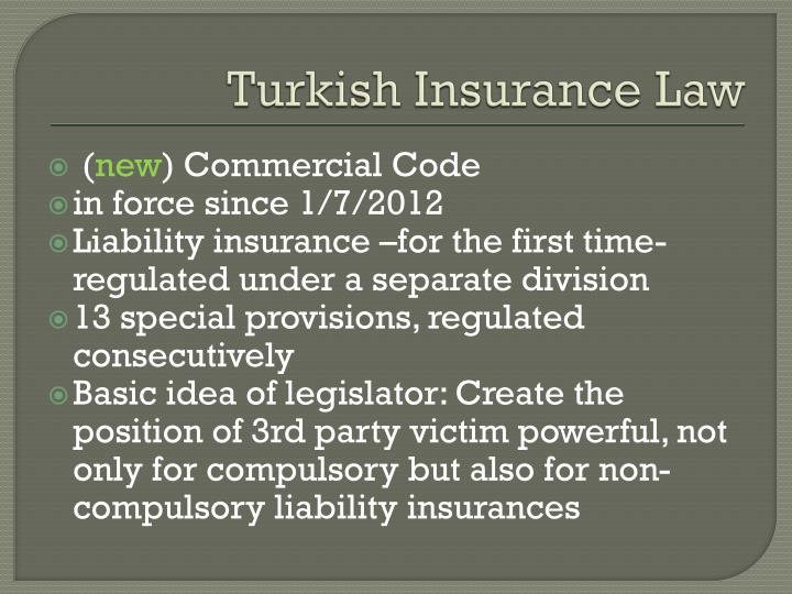 Turkish insurance law