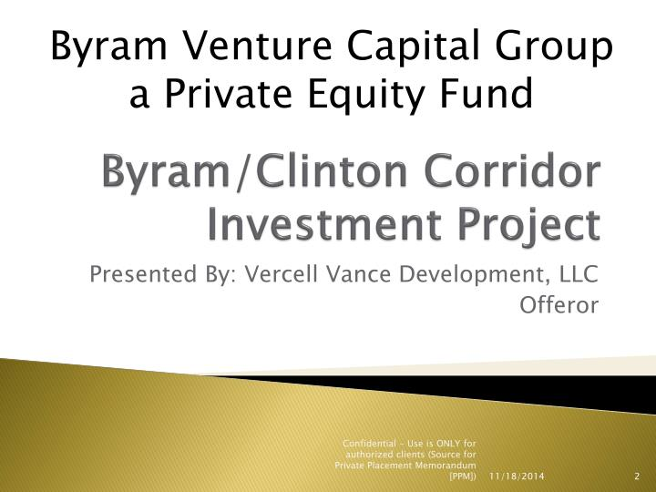 Byram clinton corridor investment project