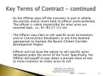 key terms of contract continued