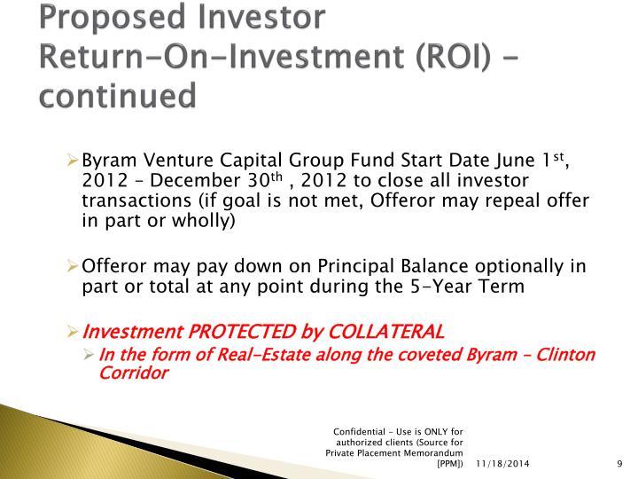 Proposed Investor