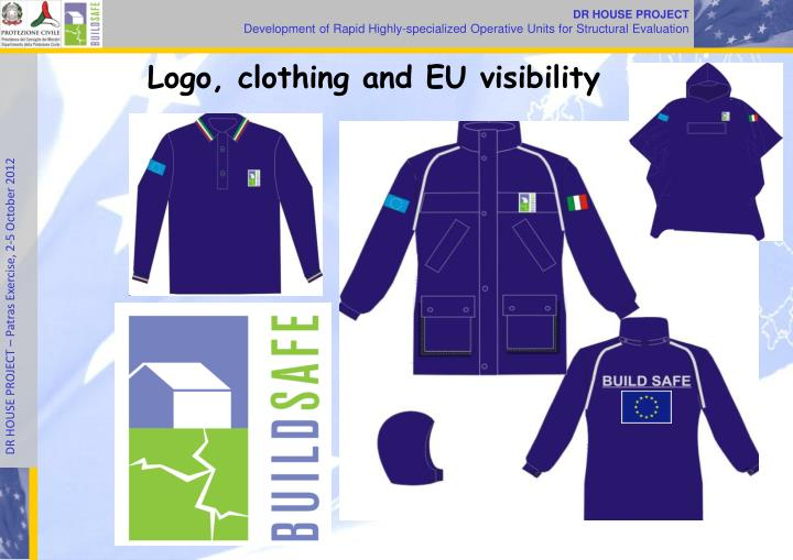Logo, clothing and EU visibility