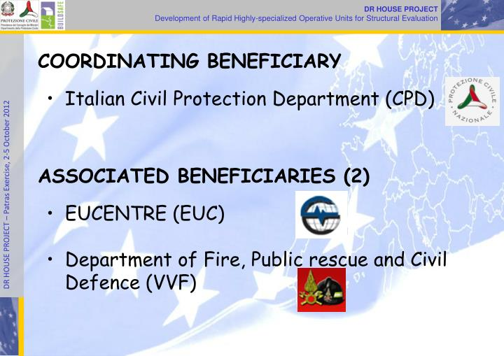 COORDINATING BENEFICIARY