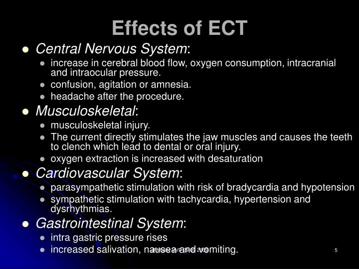Effects of ECT