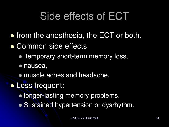 Side effects of ECT