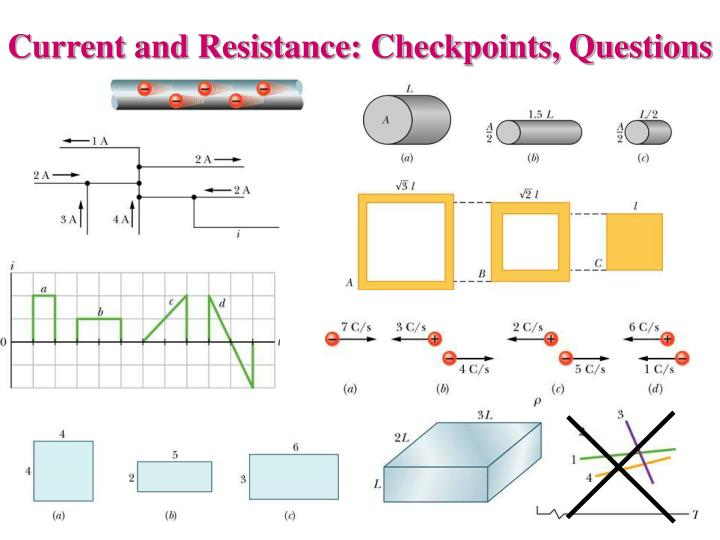 Current and Resistance: Checkpoints, Questions