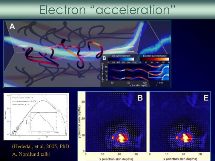 "Electron ""acceleration"""
