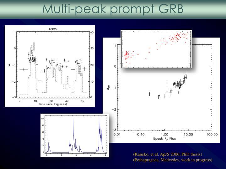Multi-peak prompt GRB