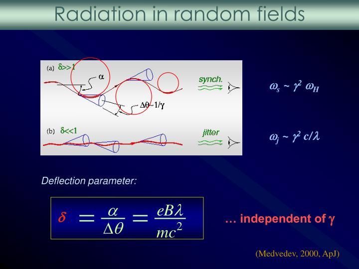 Radiation in random fields