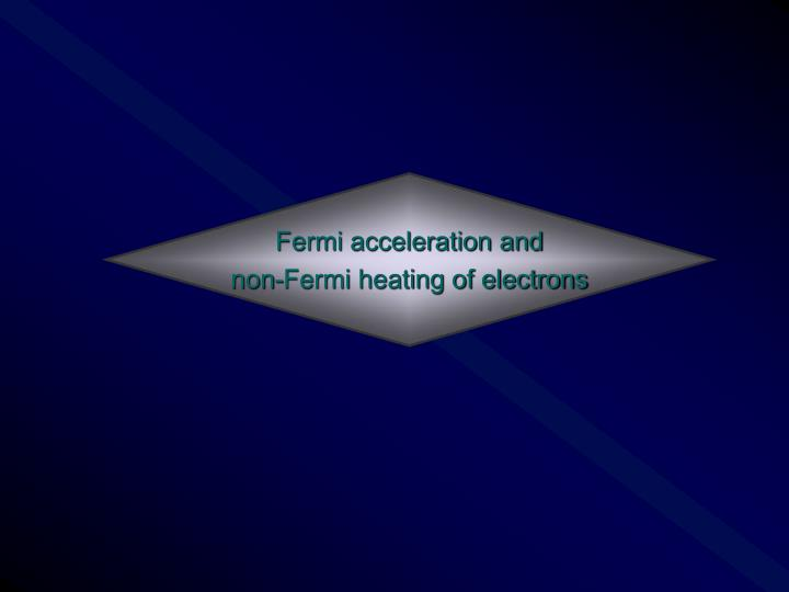 Fermi acceleration and