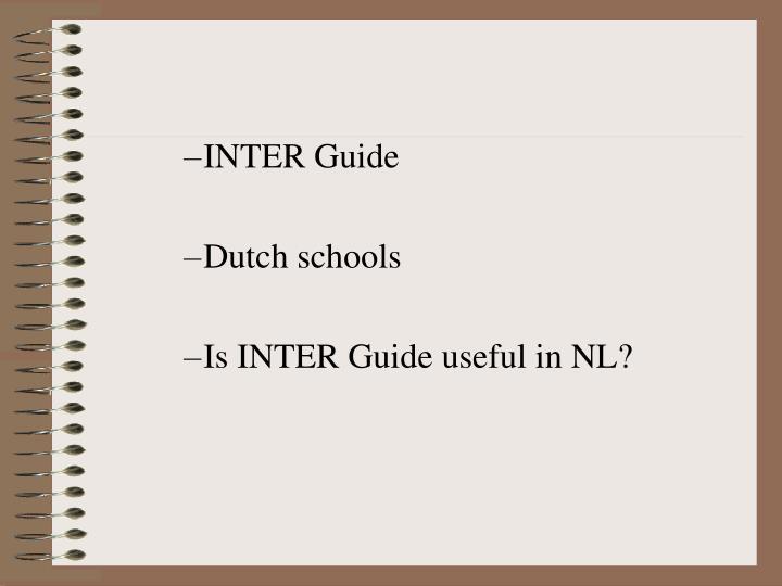 INTER Guide