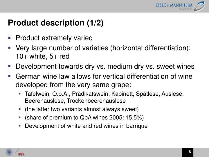 Product description (1/2)