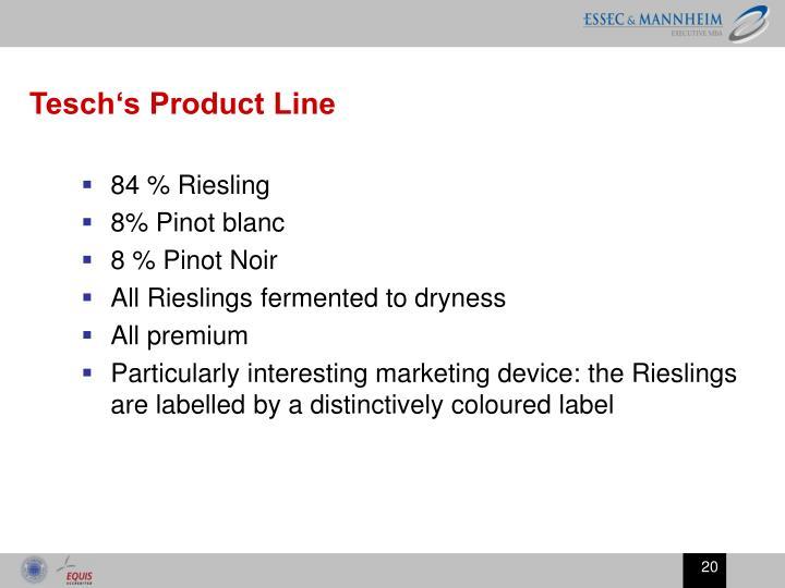 Tesch's Product Line