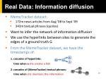 real data information diffusion