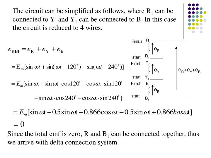 The circuit can be simplified as follows, where R