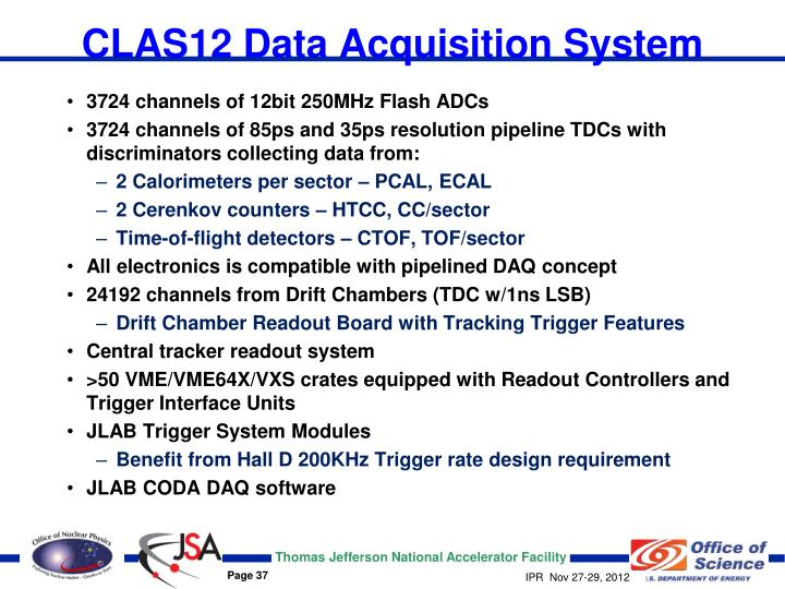 CLAS12 Data Acquisition System