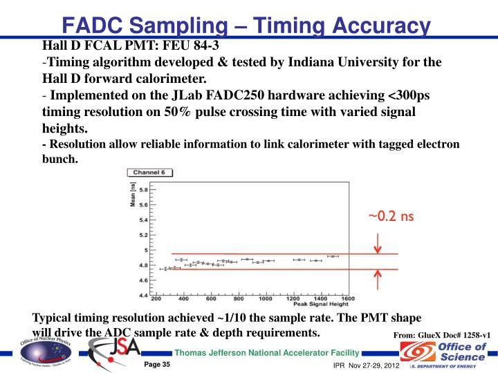 FADC Sampling – Timing Accuracy