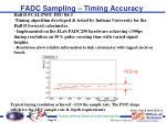 fadc sampling timing accuracy