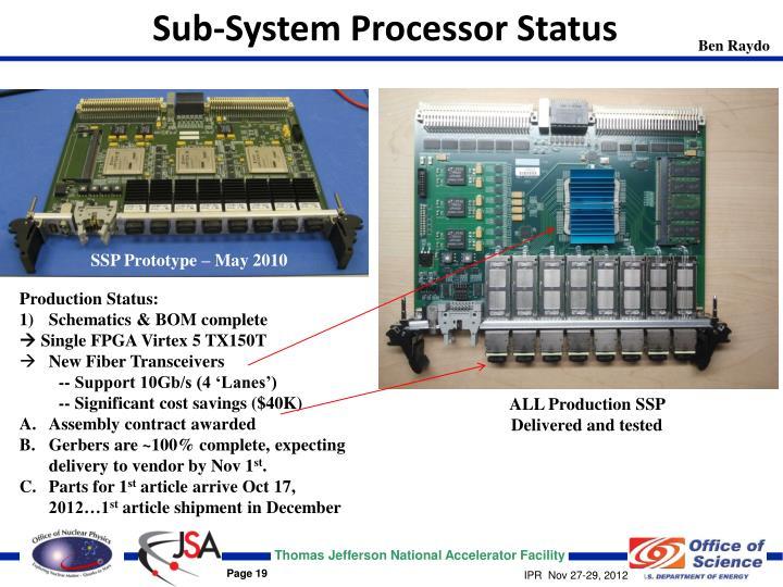 Sub-System Processor Status
