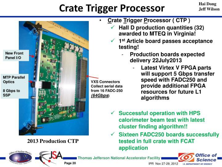 Crate Trigger Processor