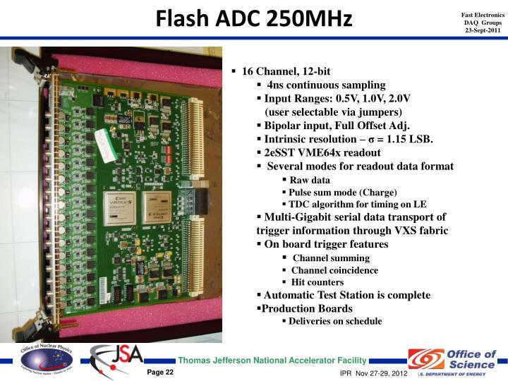 Flash ADC 250MHz