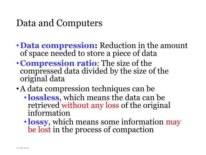 Data and Computers