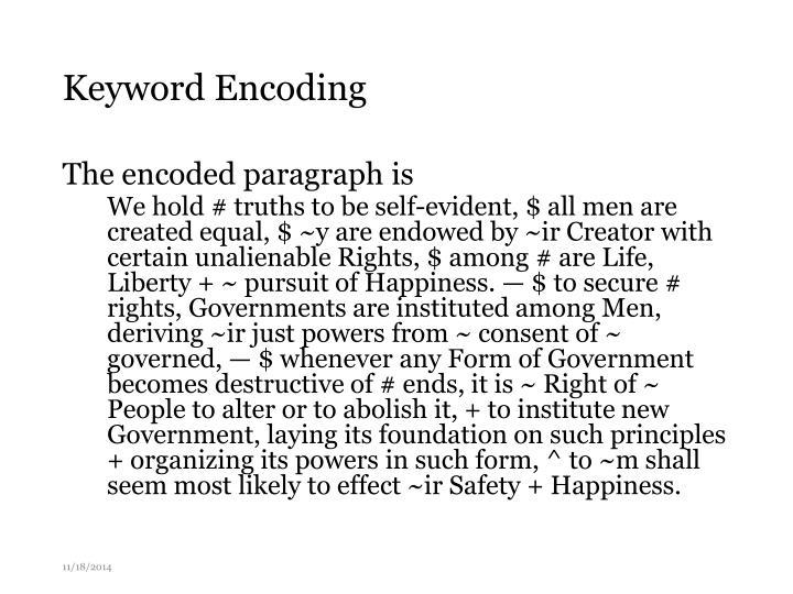 Keyword Encoding