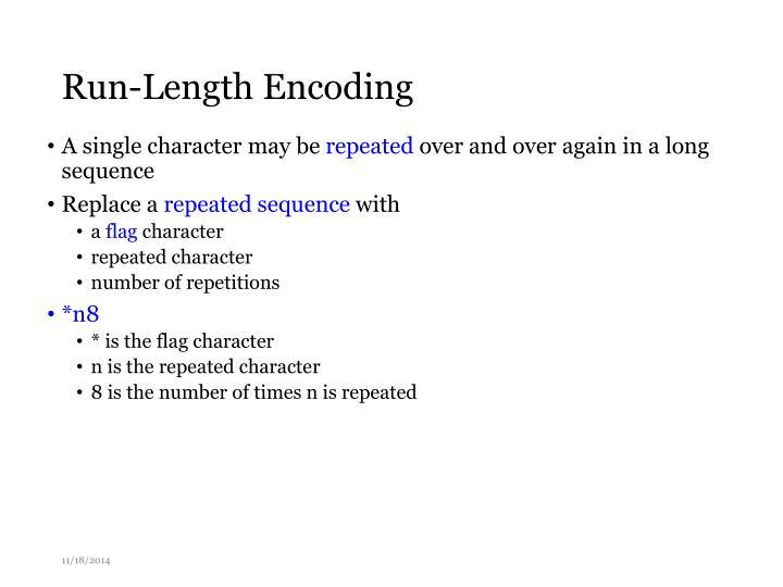 Run-Length Encoding