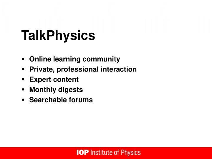 TalkPhysics