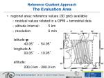 reference gradient approach the evaluation area