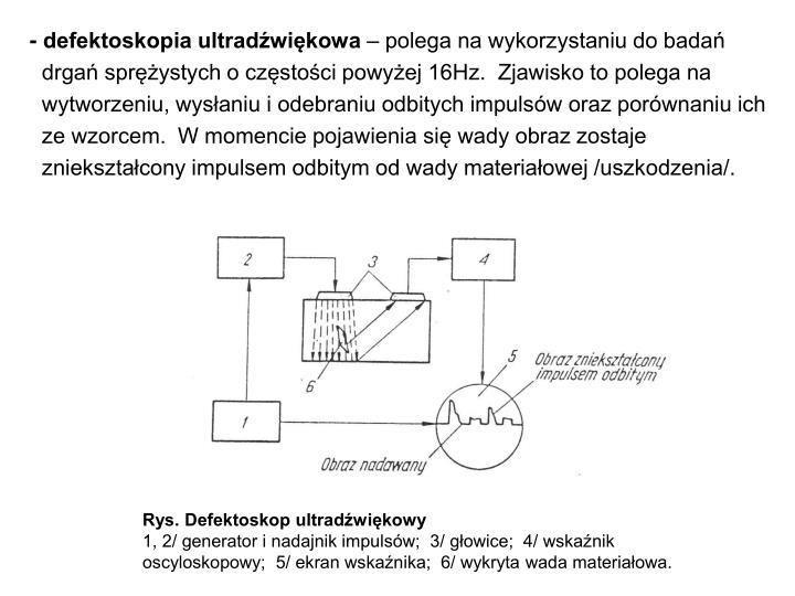 - defektoskopia ultradźwiękowa