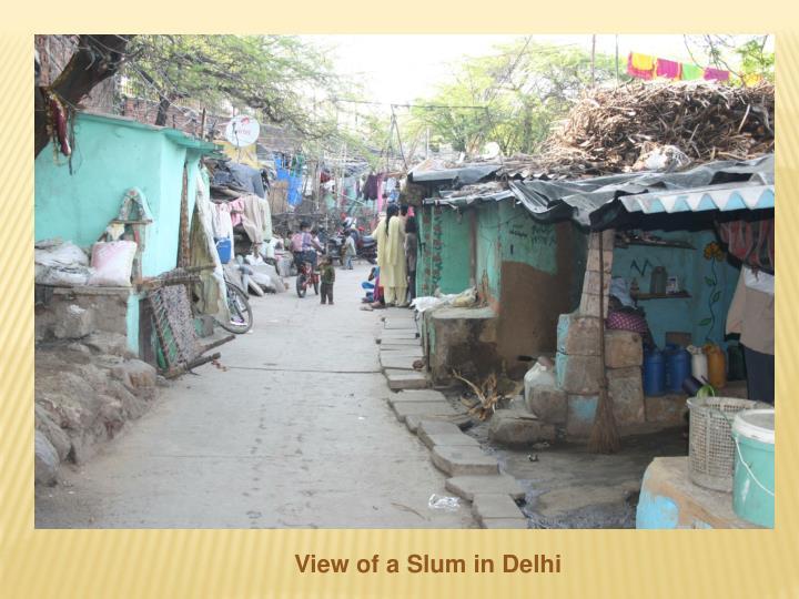 View of a Slum in Delhi