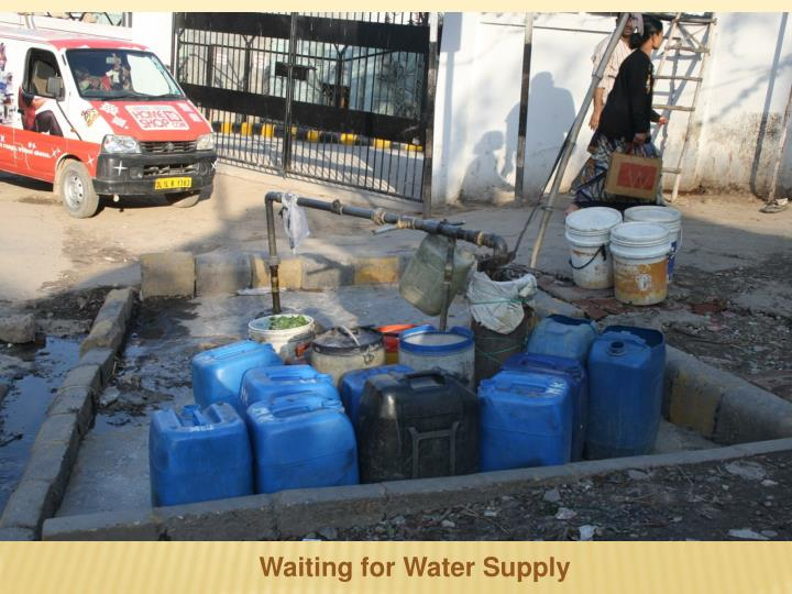 Waiting for Water Supply