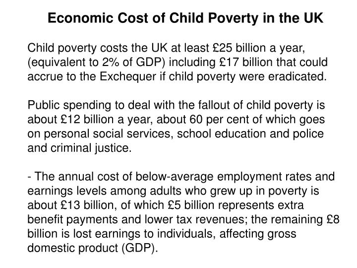 Economic Cost of Child Poverty in the UK