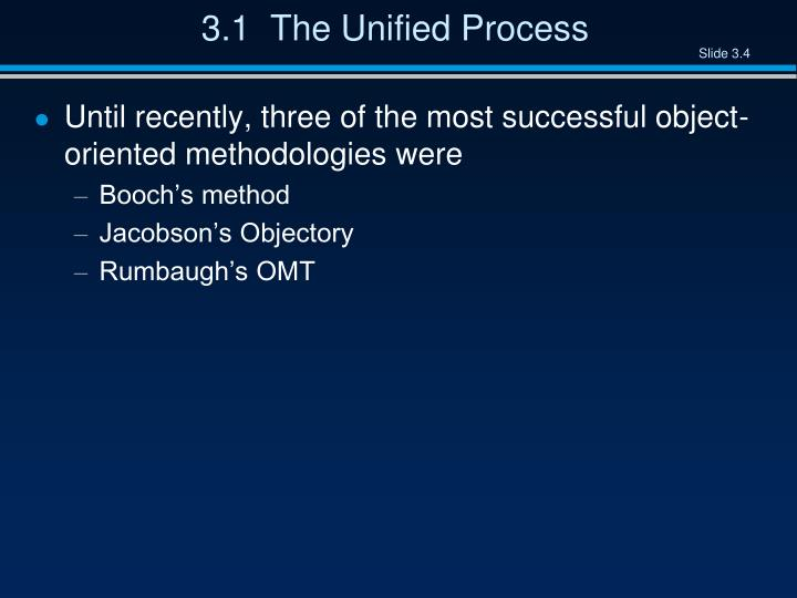 3.1  The Unified Process