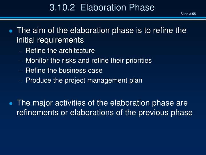 3.10.2  Elaboration Phase