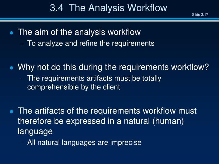 3.4  The Analysis Workflow