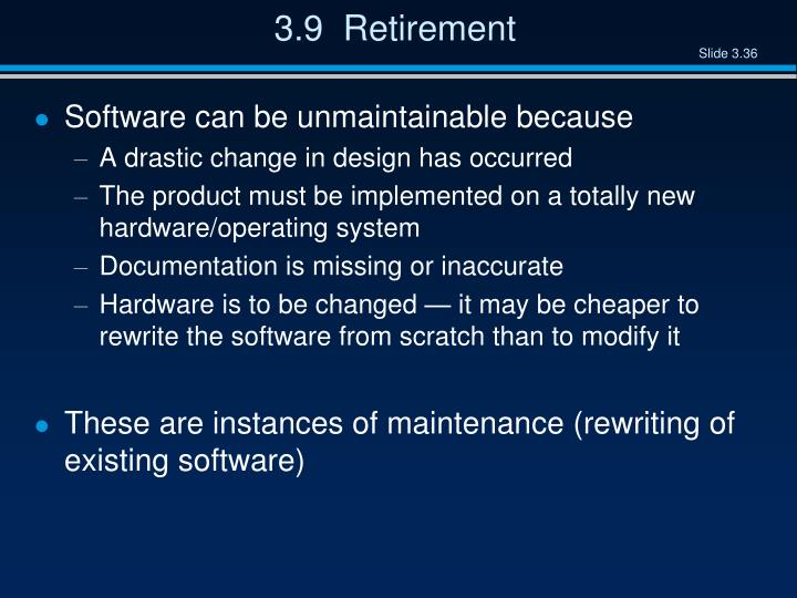 3.9  Retirement