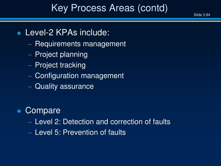 Key Process Areas (contd)