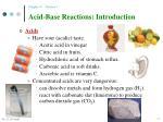 acid base reactions introduction