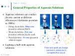 general properties of aqueous solutions